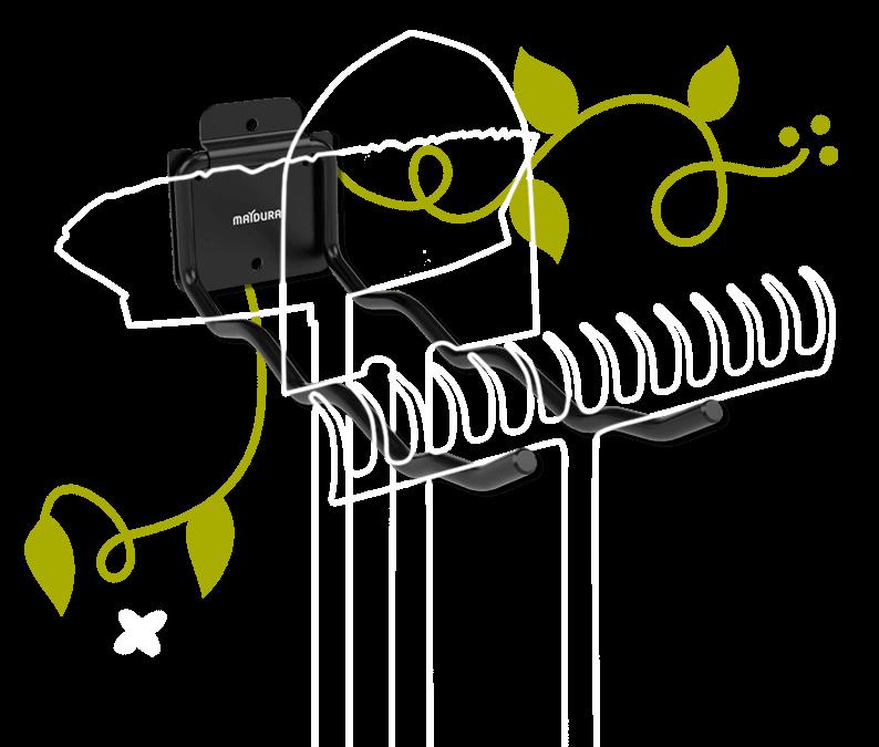Gartengeraetehalter klappbar